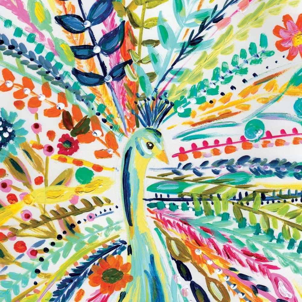 Paperproducts Design 1252746 Beverage Napkin, Bari J, Pavo