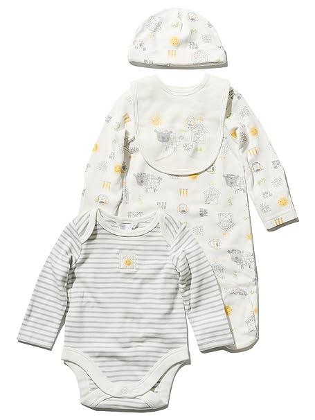 M&Co - Pelele para dormir - Animal Print - Manga Larga - para bebé niño Blanco