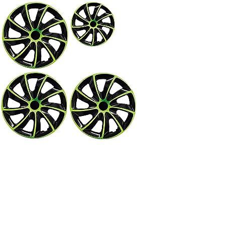 PARA Alfa 15 pulgadas tapacubos/Tapacubos QUAD verde 15 negro black verde