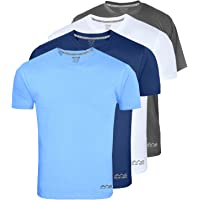 AWG - All Weather Gear Men's Polyester Dry Fit Round Neck T-Shirt - Pack of 4