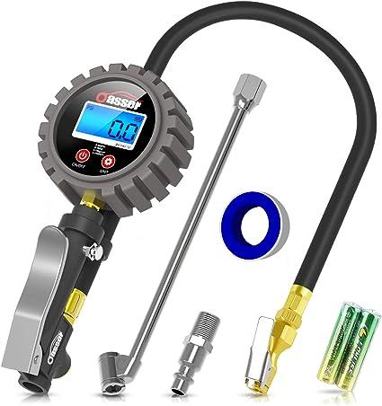 Oasser Manómetro Presión Neumáticos Digital 0-18bar Manómetro ...