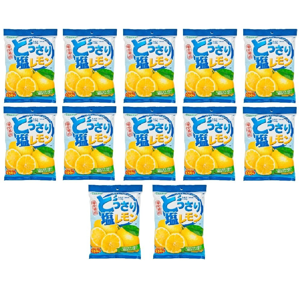 Lemon and Salt Candy 150g (628MART) (12 Packs) by Cocon (Image #1)