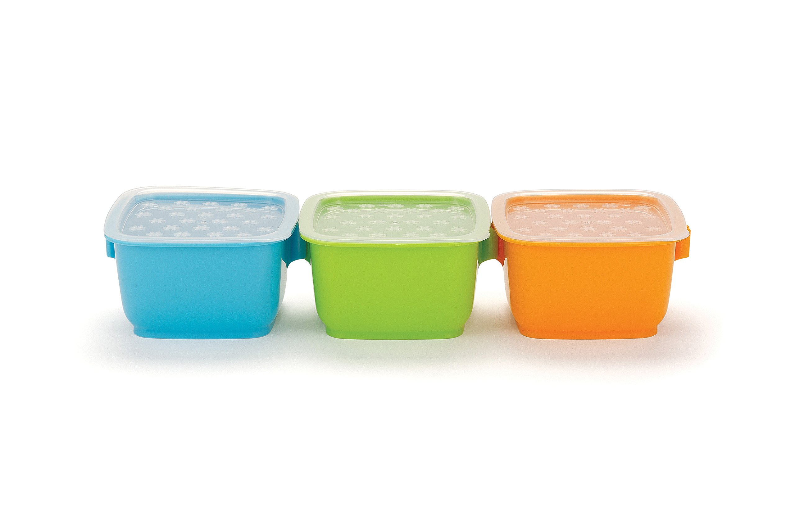 Skip Hop Baby Insulated 14-piece Bento Clix Mealtime Travel Kit, 3 Microwaveable Containers, Black
