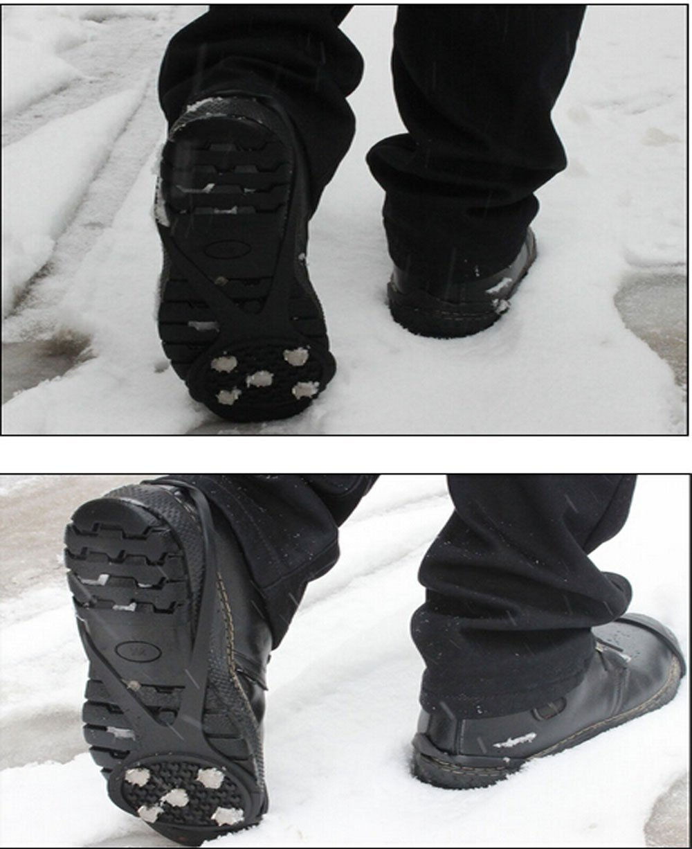 Kids Size 1 Pair Crampons//Traction Cleats//Spike Winter Walking Safety Shoe Grips on Ice//Snow Children Girls Boys