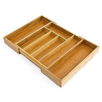 Deluxe Qualität platzsparend erweiterbar verstellbar Bambus Holz ...