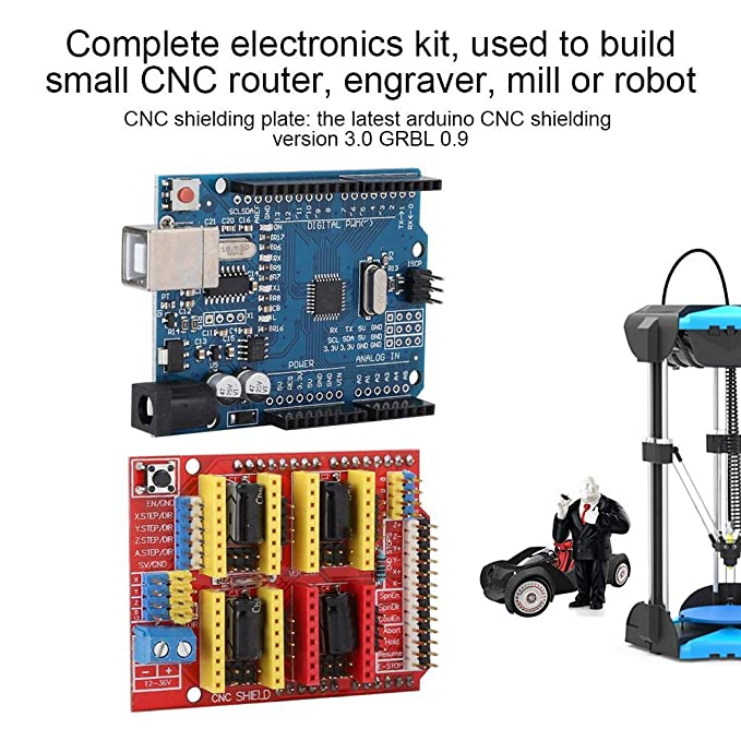 Pasamer Impresora 3D CNC Shield V3 Máquina de Grabado Kit de Placa ...