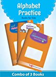 Alphabet Practice Books for Kids (Combo of 3 Books viz: Capital, Small and Cursive Writing)