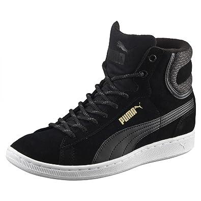 Puma Sneaker Vikky Mid Twill 361240 03 Black, Veloursleder, Warmfutter
