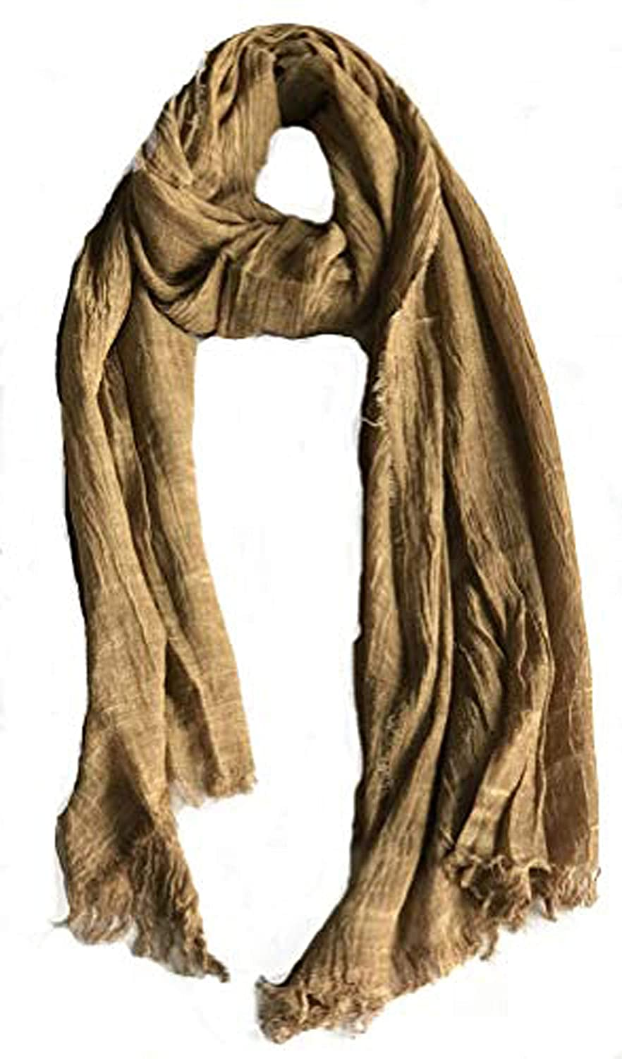 gold Colby&Co 100% Pure Natural Cotton, No Synthetic Fibers, Unisex, Scarves  Multi colors Styles