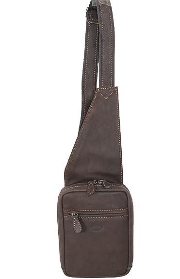 Francinel sac monobretelle holster en cuir réf 655044 + CADEAU SURPRISE  (marron)  Amazon.fr  Chaussures et Sacs 9209a2fa172