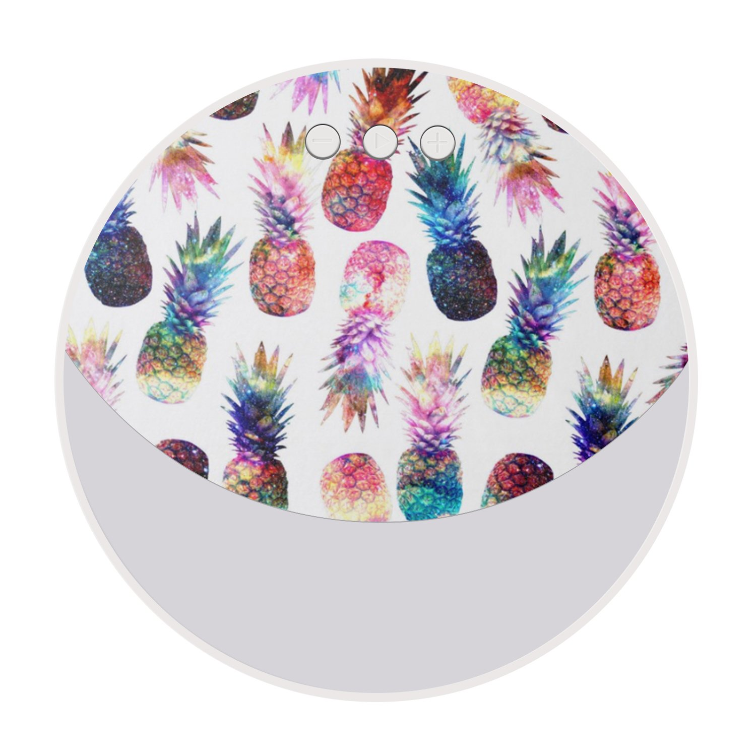 Portable Bluetooth Speaker, Personalized Enhanced Bass and HD Sound Wireless Bluetooth Stereo Speaker with Built-in Mic and TF Card Slot for iPhone iPad PC Cellphone - Colorful Pineapples