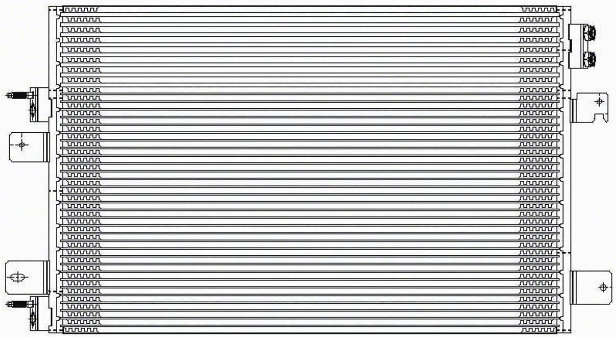 NEW AC CONDENSER FITS DODGE AVENGER CHRYSLER SEBRING CH3030228