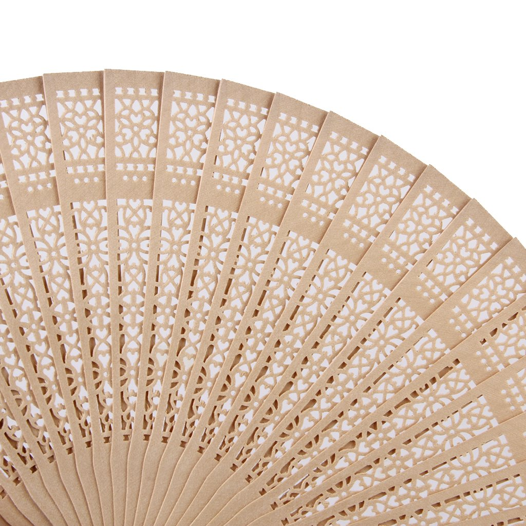 Handheld Folding Fans with Tassel for Wedding Party Home Decorations Grosun 10 Packs Chinese Sandalwood Fans