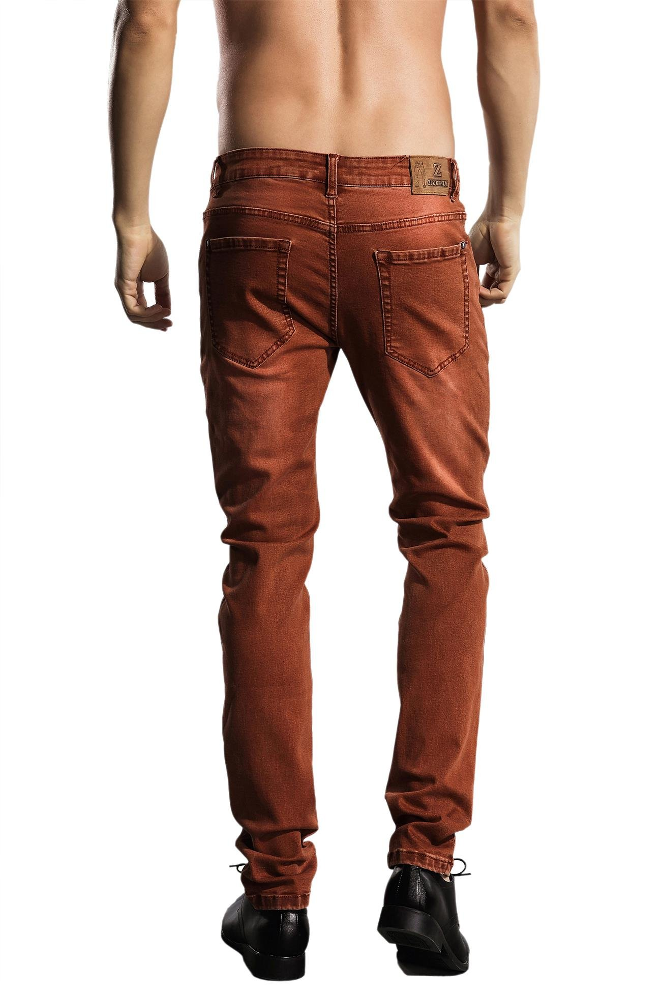 b204d1d0ba7d ZLZ Slim Fit Jeans, Men's Younger-Looking Fashionable Colorful Super Comfy  Stretch Skinny ...