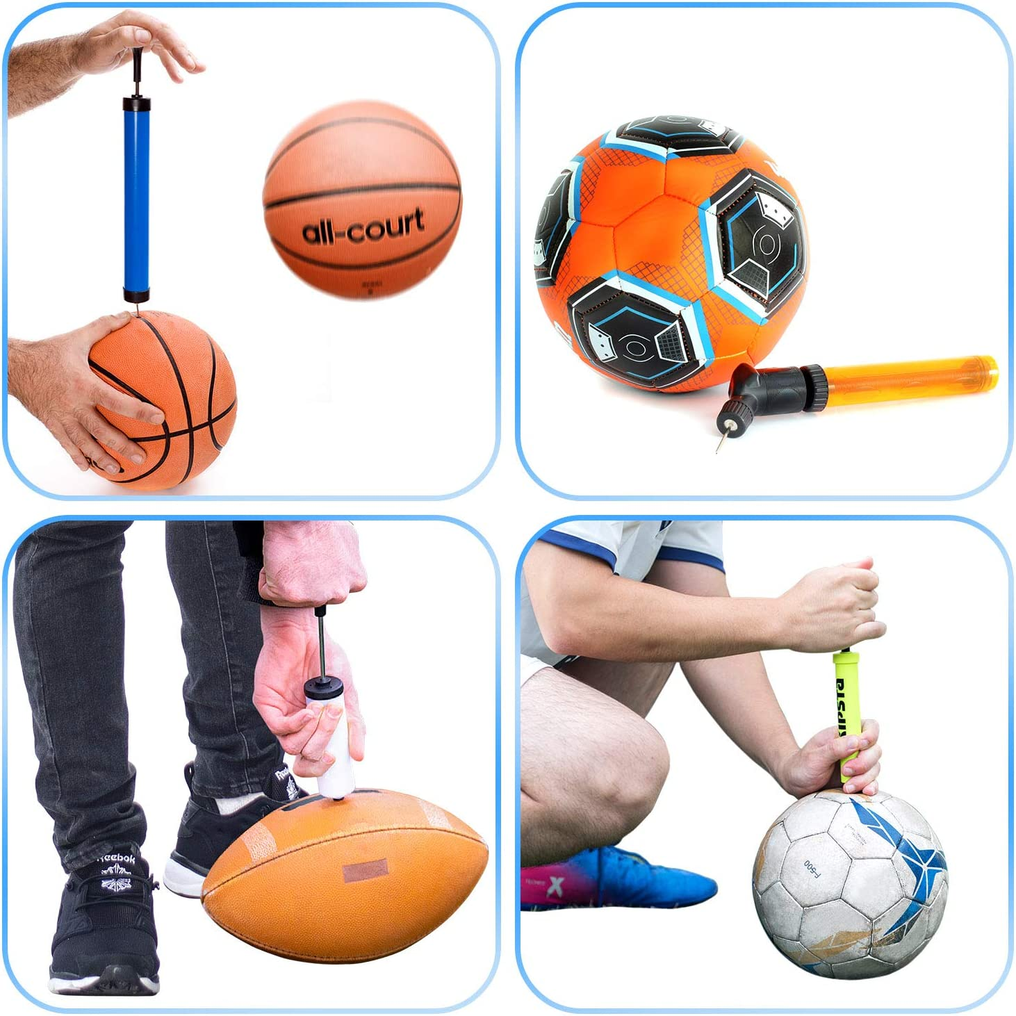 50x BALL AIR INFLATION PUMP NEEDLE  SOCCER BASKETBALL SPORTS RUGBY ADAPTOR VALVE