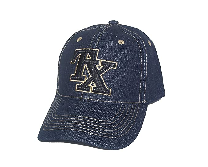 Image Unavailable. Image not available for. Color  Denim Blue Jeans Style  Texas Tx Baseball Hat b1fbe43ba10