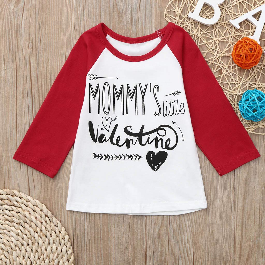 3d6a94a629 Amazon.com  Clothful 💓 Toddler Baby Boys Girls Valentine s Day Clothes  Letter Printed Tops T-Shirt  Clothing