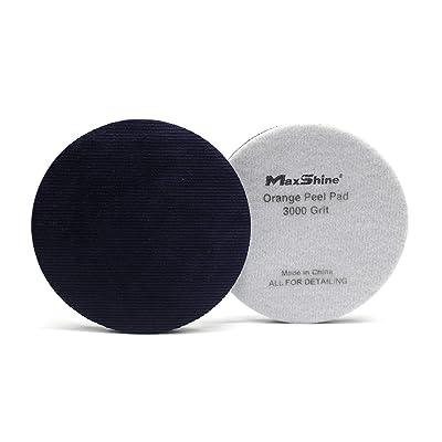 Maxshine Purple Velvet Orange Peel Pad Removal 3000-1PC Per Pack (Dia: 135mm): Automotive