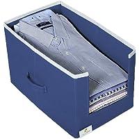 HomeStrap Non Woven Shirt Stacker/Shirt Organizer Wardrobe Organizer- Navy Blue