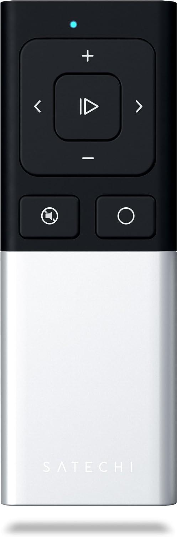Satechi Aluminum Wireless Multi-Media & Presenter Remote Control - Compatible with 2019 MacBook Pro, 2018 MacBook Air, 2019 iPad/2018 iPad Pro, iPhone 11 Pro Max/11 Pro (Aluminum Silver)