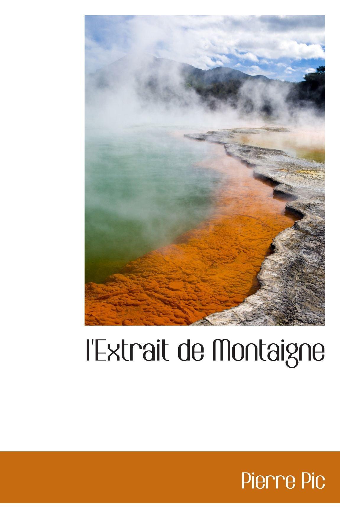 I'Extrait de Montaigne (French Edition) pdf epub