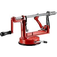 qobobo® 3En1 - Pelador y Despepitador de manzana - pelador de manzana cortador manzana despepitar manzana color Rojo