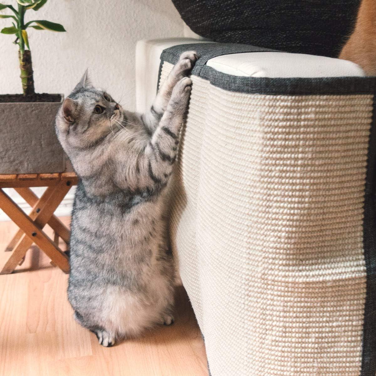 - Protector para Esquina de sofá o sillón - Afilador de uñas de sisal para Mascotas - para el Lado Derecho...