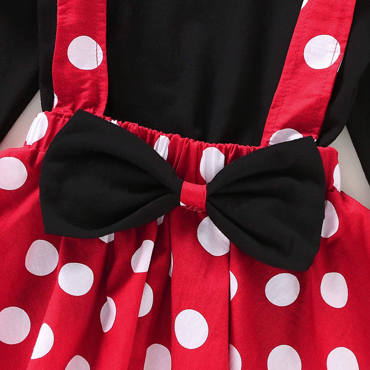 Nuova con Etichetta da Bambina Minni Stampa a Pois Vestito Festa Estate Regalo