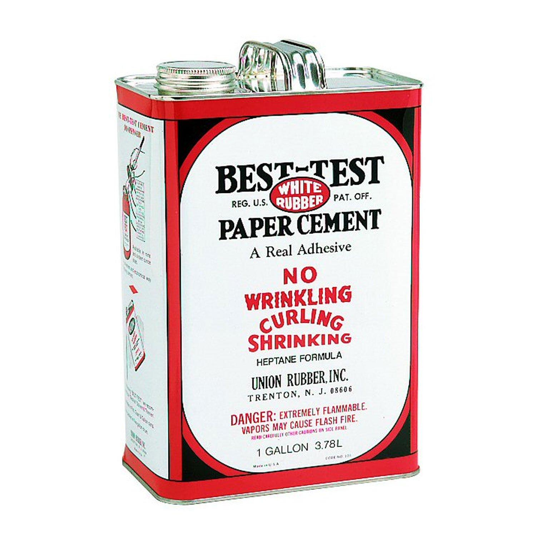 Best-Test White Rubber Paper Cement, 1-Gallon