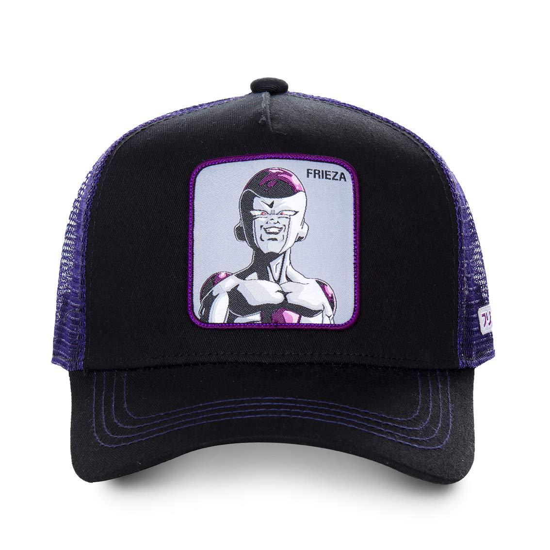 FREEGUN Casquette Trucker COLLABS Dragon Ball Z Freezer Noir Filet Violet
