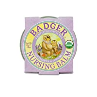 Badger - Nursing Balm, Sunflower & Coconut, Certified Organic Nipple Balm for Breastfeeding...