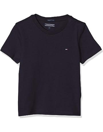 66a6eaca023d74 Tommy Hilfiger Jungen Boys Basic Cn Knit S/S T-Shirt