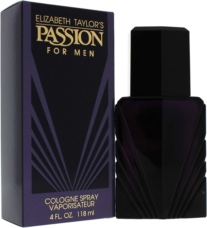 Elizabeth Taylor, Pasié³n, Eau de Cologne Spray para hombres, 118 ml