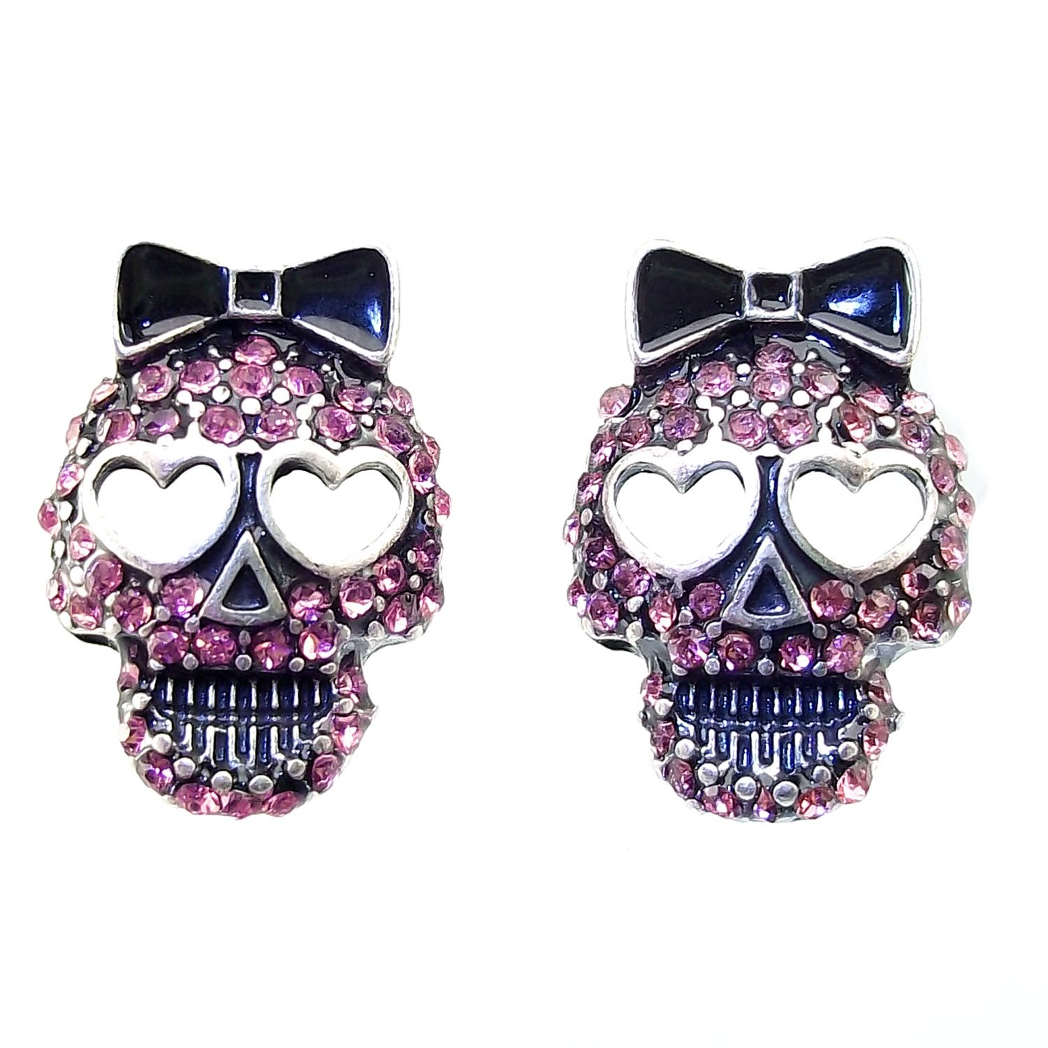 skull edie studs tiny products regalrose earrings silver sterling stud