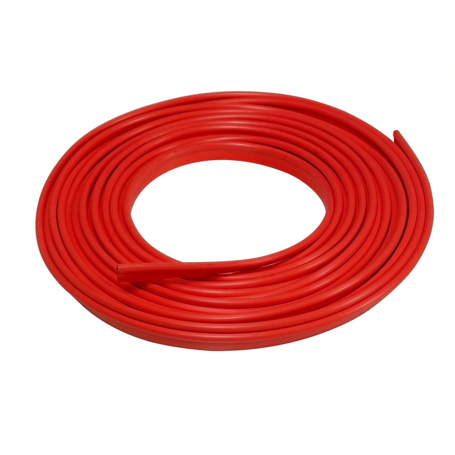 EJ's SUPER CAR Car Interior Moulding Trim, 16FT(5M) Color Film Car Interior Exterior Decoration Moulding Trim Rubber Seal Protector Fit for Most Car(Red)