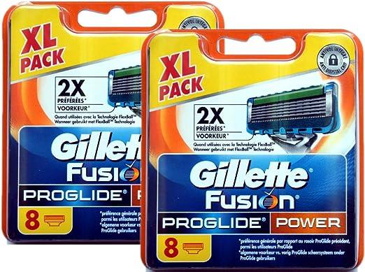 8, 16 o 32 cuchillas de afeitar Gillette Fusion, Fusion Power ...