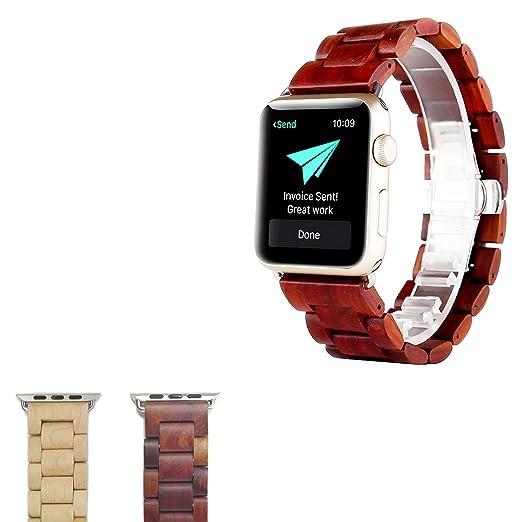 13 opinioni per Cinturino Apple Watch,Sumgar® 42/38mm iWatch Band Strap Sostituzione in legno