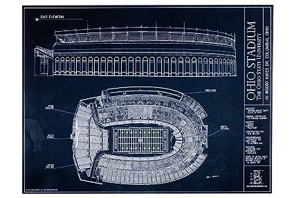 Amazon ohio stadium blueprint style print unframed 18 x 24 ohio stadium blueprint style print unframed 18quot malvernweather Gallery