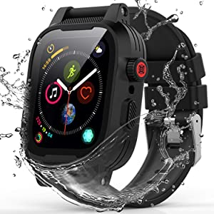Apple Watch 42mm Seaies 3/2 Case, YOGRE Waterproof Case with Built-in Screen Protector and Full Body Protection Design, Dustproof Shockproof Waterproof Case for 42mm