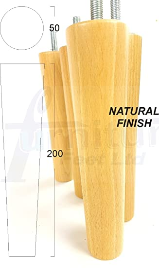 4 x SOLID WOODEN FEET REPLACEMENT FURNITURE LEGS 200mm HEIGHT FOR SOFAS   CHAIRS  STOOLS. 4 x SOLID WOODEN FEET REPLACEMENT FURNITURE LEGS 200mm HEIGHT FOR
