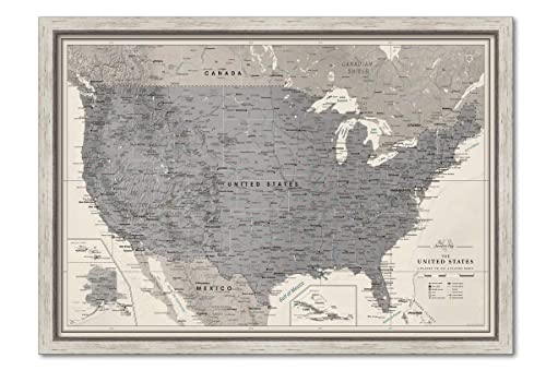 Us Wall Map With Pins Amazon.com: Framed US Wall Map Pin Board | Personalized US Travel