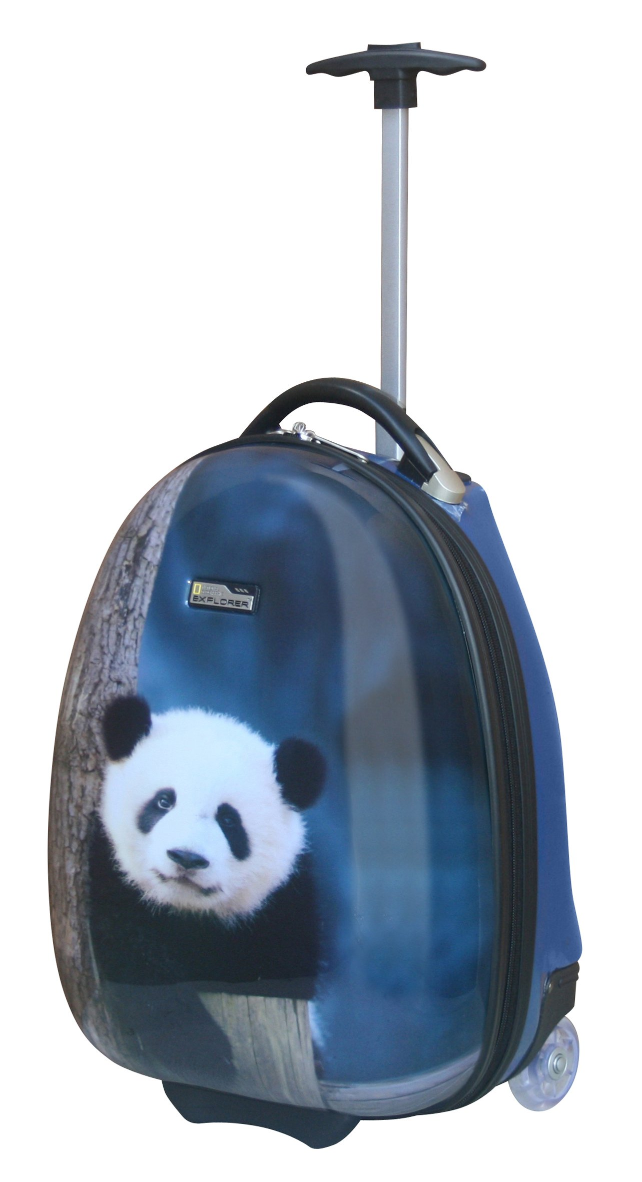 National Geographic Kid's 16 Inch Rolling Luggage, Panda, One Size