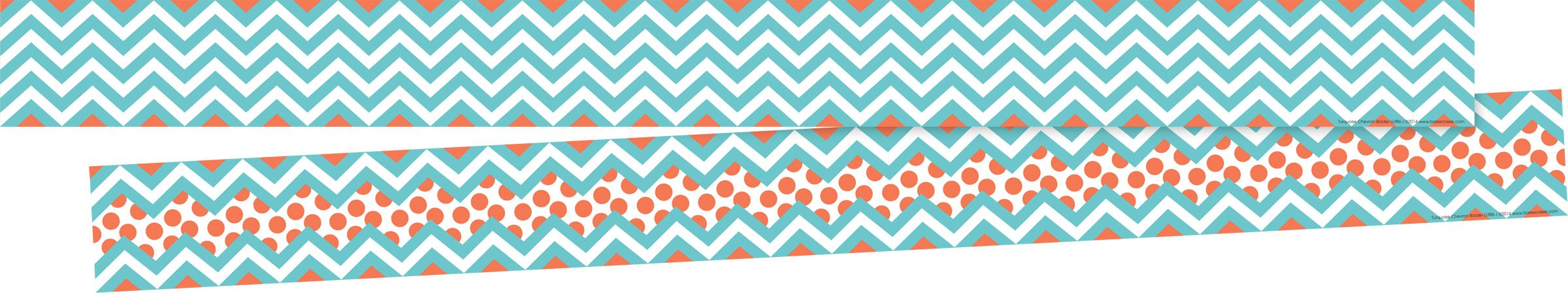 Barker Creek Double-Sided Border 2 pack - Chevron Turquoise (BC3692)