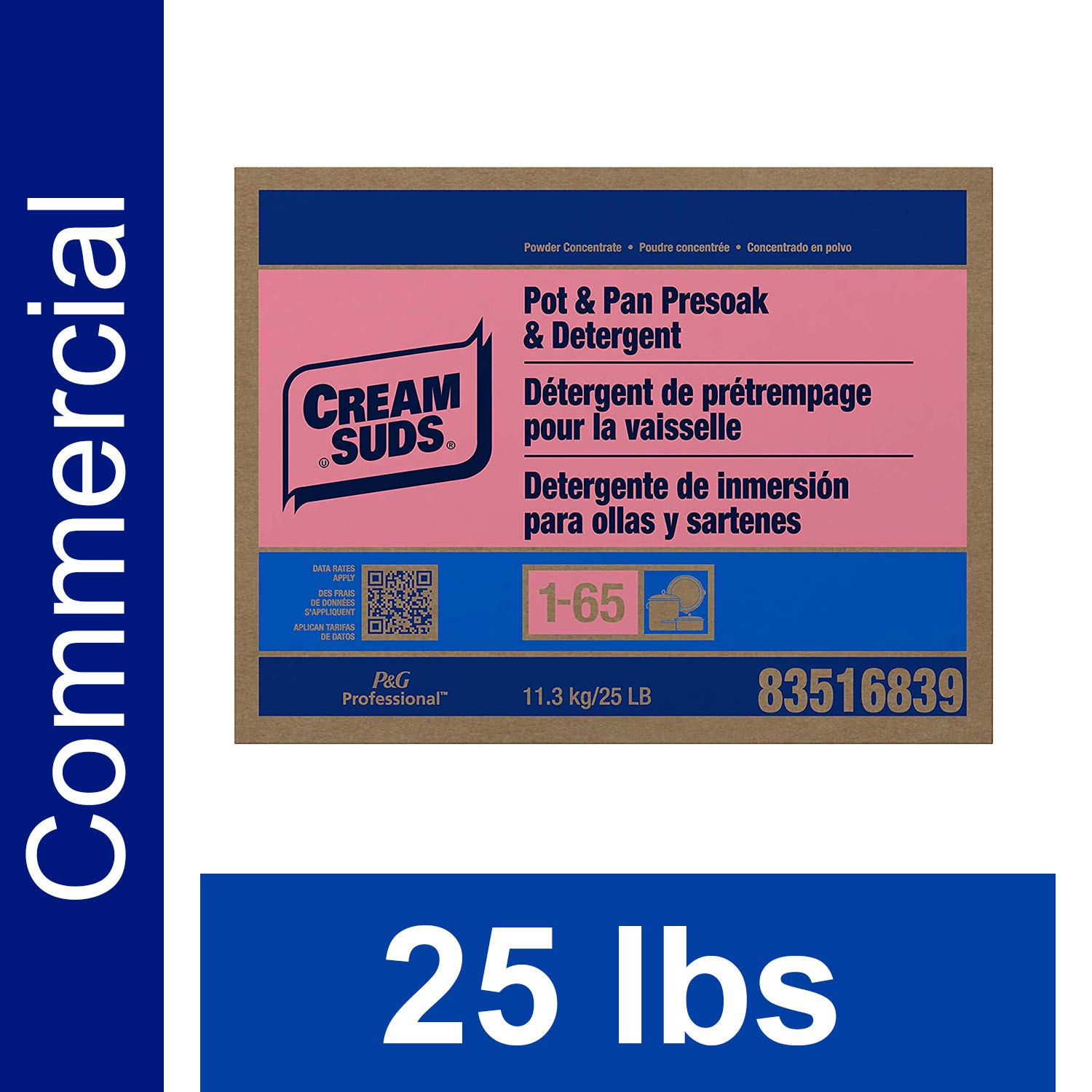 ... Powder by Cream Suds Professional, Multi-Surface Cleaner and Degreaser Concentrate for Restaurant Walls and Floors, 50 lbs: Industrial & Scientific