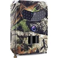 Caméra de Chasse 1080P Jour & Nuit pour la Surveillance de la Faune Sauvage,avec un Détecteur de Mouvement à 120° Activé,26 LEDs Infra-rouge,Portée Effective à 15 m,Temps de Déclenchement 1 Seconde
