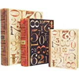 Punch Studio Numerals Large Set of 3 Nesting Book Boxes