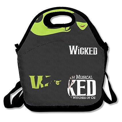 3f36536ebdd4 Amazon.com - DSYBTV Lunch Bag Wicked Logo Lunch Tote Lunch Box For ...