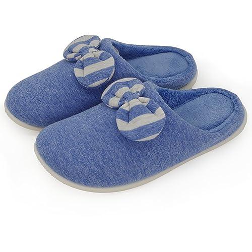 Amazon.com: Par de casa zapatillas Plush Mujer Lavables ...