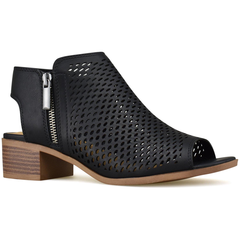 Premier Standard - Women's Closed Toe Multi Strap Ankle Bootie, TPS Bootie-Reywas Black Size 7