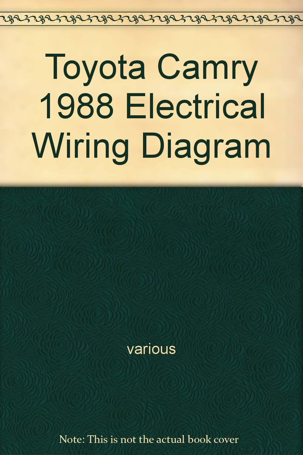 Toyota Camry 1988 Electrical Wiring Diagram Various Books Electric Book